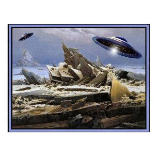 Strange Planet - UFO visit Postcard