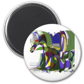Strange Pony CricketDiane Art Products 2 Inch Round Magnet