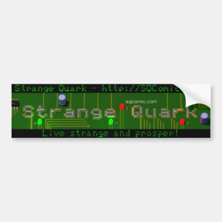 Strange Quark Circuit Board Bumper Sticker