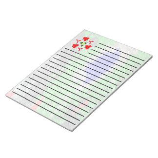 Strange random colorful pattern notepad