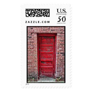 Strange Red Door Postage