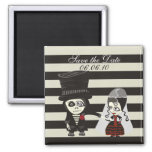Strange Save the Date 2 Inch Square Magnet