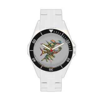 Strange Shape Abstract Painting Watch