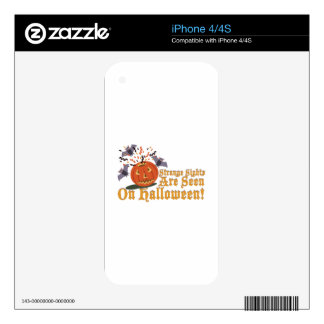 Strange Sights On Halloween Decals For iPhone 4S