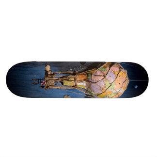 Strange steampunk balloon skateboard deck