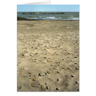 Strange Stone beach Card