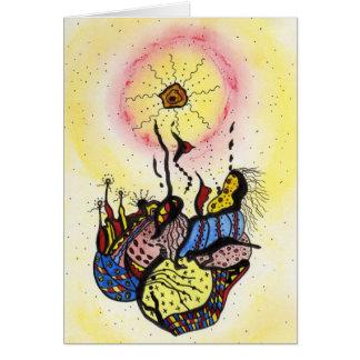 Strange sun card