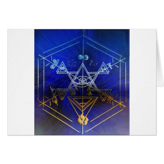 Strange Symbols Blue Card