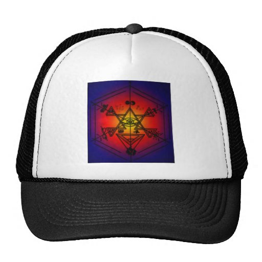 Strange Symbols Mesh Hat