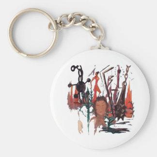 """""""Strange Time"""" Round Keychain"""