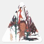 """""""Strange Time"""" Triangle Sticker"""