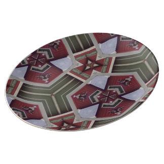 Strange trendy pattern dinner plate