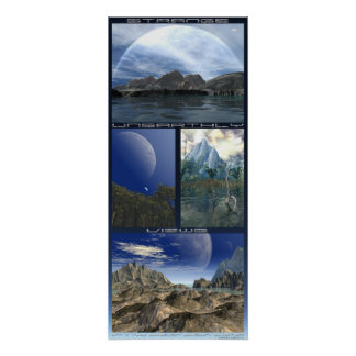 Strange Unearthly Views: Epsilon Eridani System Poster