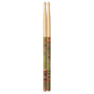 Strange unique pattern drumsticks