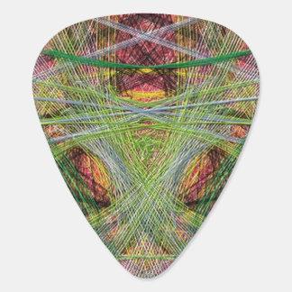 Strange unique pattern guitar pick