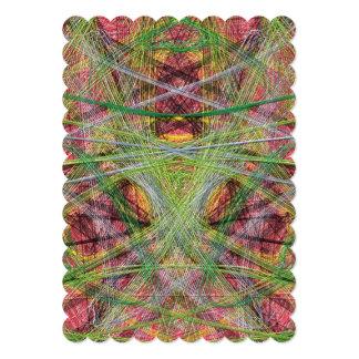 Strange unique pattern invite