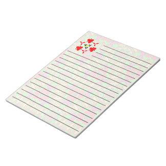 Strange unique pattern notepad