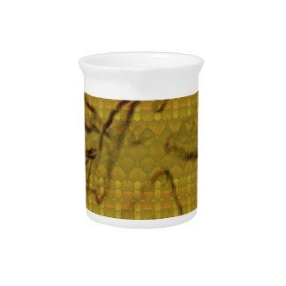 Strange unique pattern pitcher