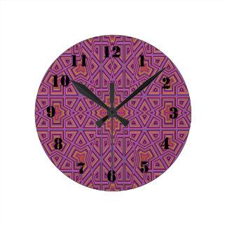 Strange unique pattern round clock