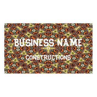 Strange unique unusual pattern business card