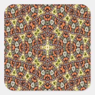 Strange unique unusual pattern square sticker