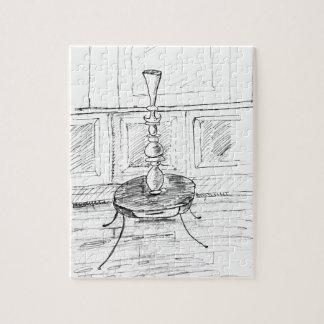 Strange Vase on a Table Jigsaw Puzzle