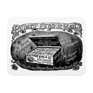Strange vintage potato advert magnet