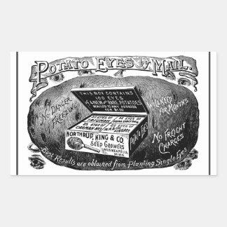 Strange vintage potato advert rectangular sticker