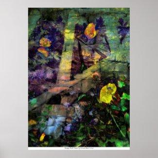 Strange Wall Flower by Rowan Blair Colver Print