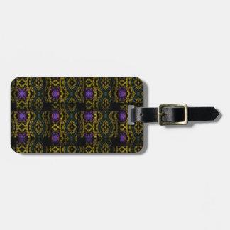 Strange weave pattern luggage tag