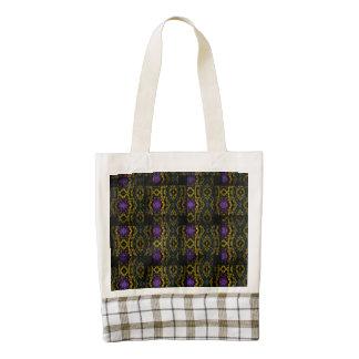 Strange weave pattern zazzle HEART tote bag