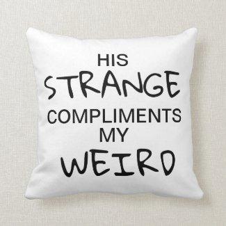 Strange & Weird Throw Pillow (For Her)