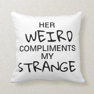 Strange & Weird Throw Pillow (For Him)