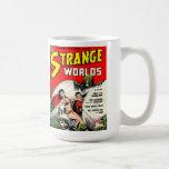 STRANGE WORLDS Cool Vintage Comic Book Cover Art Coffee Mug