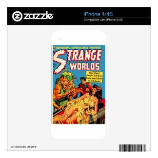 Strange Worlds -- Space Princess iPhone 4S Decals