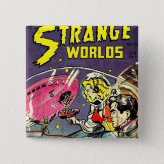 Strange worlds vintage comics button