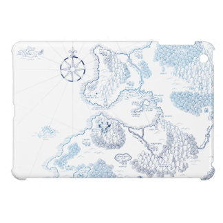 < Strange worldwide map - blue >Another world map  Cover For The iPad Mini