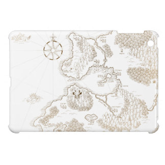 < Strange worldwide map - brown >Another world map iPad Mini Covers
