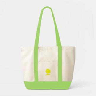 Strange yellow tree tote bag