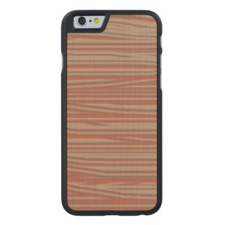 Strangely ugly pattern carved® maple iPhone 6 slim case