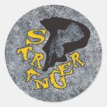 STRANGER CLASSIC ROUND STICKER