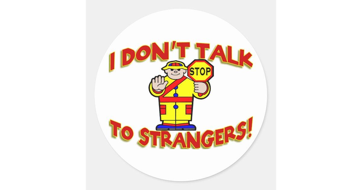 Stranger Danger Classic Round Sticker | Zazzle.com