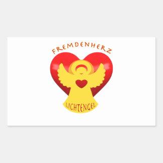 Stranger heart instead of stranger hate rectangular sticker