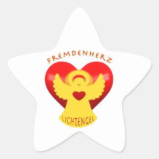 Stranger heart instead of stranger hate star sticker