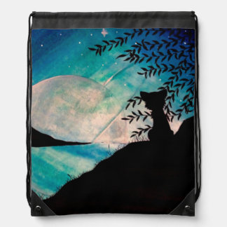 Stranger on this planet drawstring bag