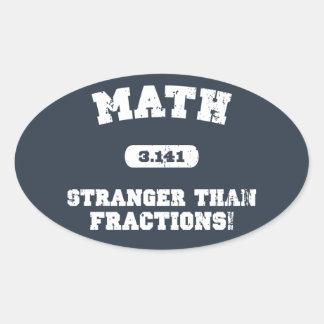 Stranger Than Fractions! Oval Sticker