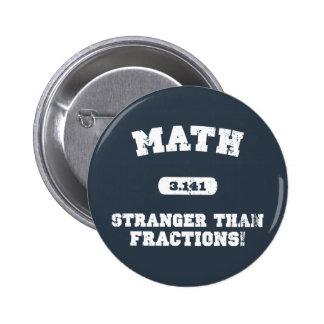Stranger Than Fractions! Pinback Button