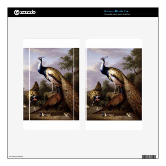 STRANOVER, Tobias birds peacock animals vintage Skins For Kindle Fire