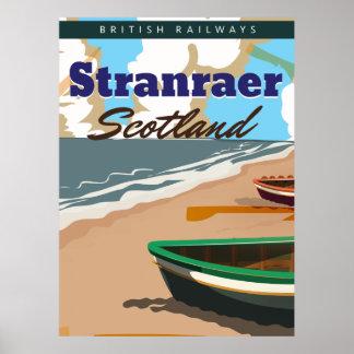 stranraer scotland vintage travel poster