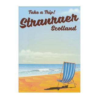 Stranraer Scotland vintage travel poster Acrylic Wall Art